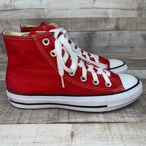 Converse M9621 Red All Star Lace Up Sneaker Shoe 6